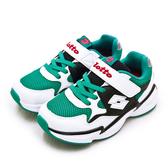 LIKA夢 LOTTO 19cm-23cm 經典復古輕量慢跑鞋 老爹鞋系列 綠白黑 1775 中童