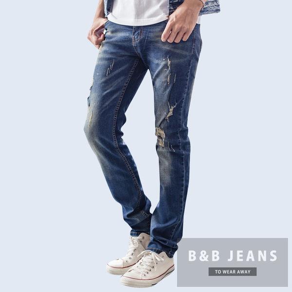 高磅數質感湛藍牛仔褲