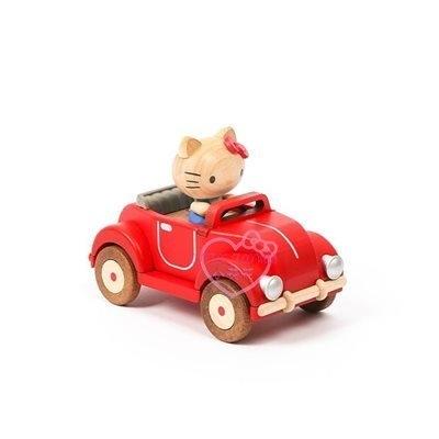 小花花日本精品HelloKitty開車古董車造型木頭音樂盒11705505
