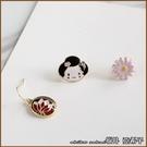 『坂井.亞希子』日本和風藝妓扇子櫻花組合耳環
