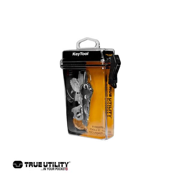 TRUE UTILITY KeyTool 8合1迷你鑰匙圈工具組/城市綠洲(戶外、工具組、鑰匙圈、英國)