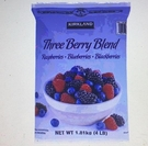 [COSCO代購] WC1295576 Kirkland Signature 科克蘭 冷凍三種綜合莓 1.81公斤 兩入