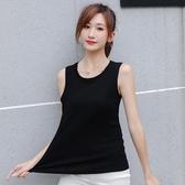 新款純棉吊帶背心女外穿寬鬆百搭圓領大碼黑色打底無袖T恤 - 雙十二交換禮物