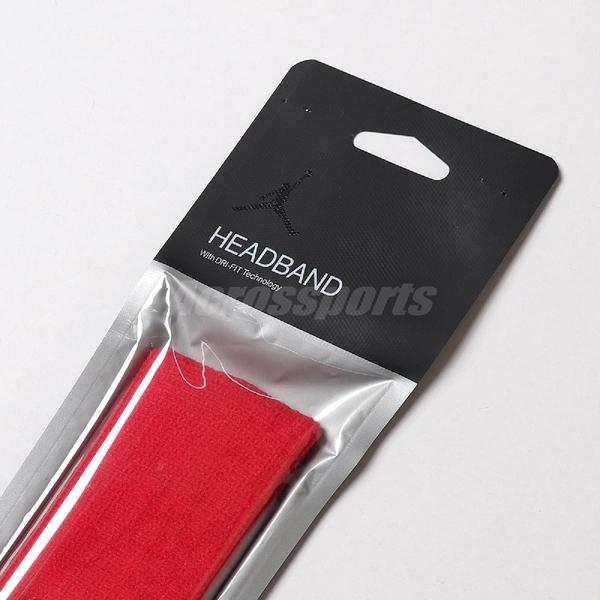 Nike 頭帶 Jordan Jumpman 喬丹 飛人 紅 黑 棉質 頭帶 吸汗 排汗 籃球 健身房【ACS】 JKN0060-5OS
