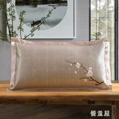 涼枕頭夏涼枕成人單人雙面學生家用夏季茶葉茉莉花枕冰絲涼席枕頭 QG25399『優童屋』