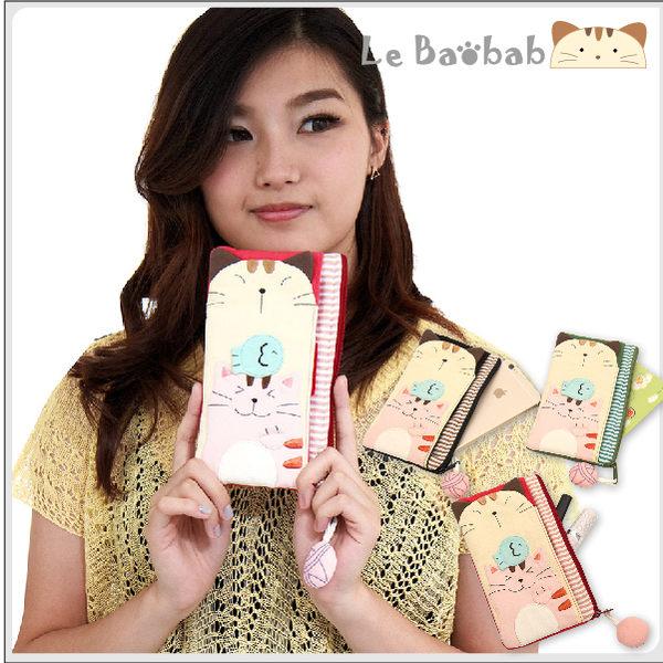手機袋~雅瑪小舖日系貓咪包 啵啵貓二人行手機袋/拼布包包