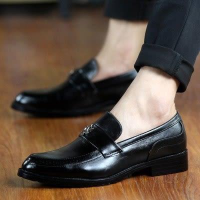 尖頭皮鞋 英倫高檔皮質【藍星居家】