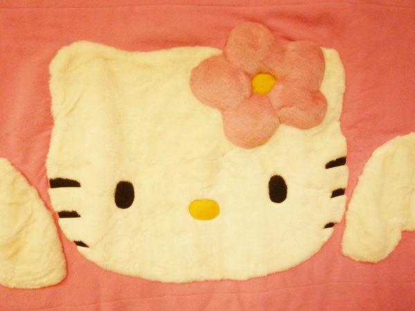 【震撼精品百貨】Hello Kitty 凱蒂貓~家具-地墊-絨毛粉【共1款】