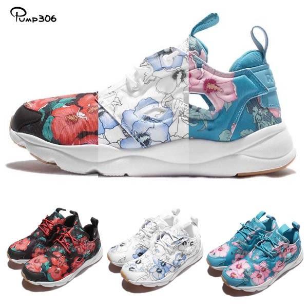 Reebok 休閒慢跑鞋 Furylite FG 花卉圖騰 花花 運動鞋 女鞋 三色任選【PUMP306】
