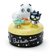 小禮堂 酷企鵝 造型陶瓷拿蓋收納盒 圓收納盒 文具盒 飾品盒 小物盒 (黑 生日宇宙) 4550337-45314