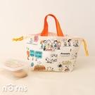 日貨Skater KB7棉質手提束口袋Snoopy彩色漫畫 - Norns 日本製 純棉 便當袋 手提袋