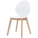 餐椅 CV-757-5 卡爾白色餐椅【大眾家居舘】