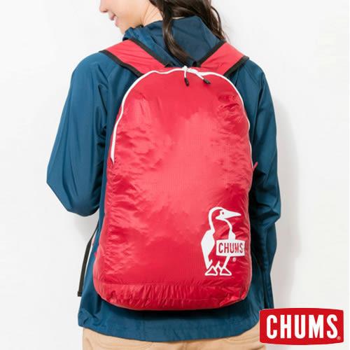 CHUMS 日本 可收納後背包 紅 CH602258R001