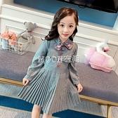 女童復古裝衣裙春長袖洋裝童裝女寶寶洋氣衛衣裙兒童裙子 母親節特惠