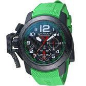 GRAHAM格林漢Superlight Carbon腕錶 2CCBK.G06A.K126K 綠
