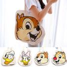 正版迪士尼帆布頭型手提包 萬用袋 萬用包 手提袋 收納袋 奇奇 蒂蒂 黛西 唐老鴨 毛怪
