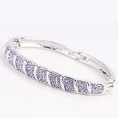 手環 925純銀水晶銀飾-奢華璀璨生日情人節禮物女手鍊10色73ak32【時尚巴黎】