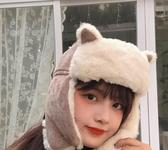 雷鋒帽女貓耳朵款韓版保暖棉帽秋冬季防寒防風帽子【聚寶屋】