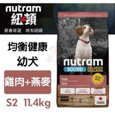 *KING*紐頓均衡健康系列-S2幼犬/雞肉燕麥配方11.4kg