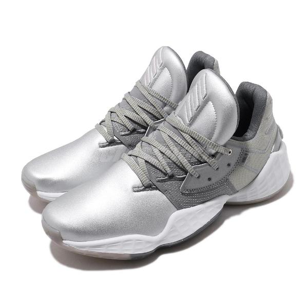 adidas 籃球鞋 Harden Vol.4 GCA Silver Metallic 銀 灰 男鞋 運動鞋 【ACS】 FW9482