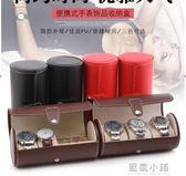 旅行便攜式手錶收納盒 圓筒手錶包收藏盒 珠寶飾品首飾收納整理盒 藍嵐