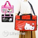 ﹝Kitty休閒旅行袋﹞正版 行李袋 旅行袋 收納包 運動包 凱蒂貓〖LifeTime一生流行館〗