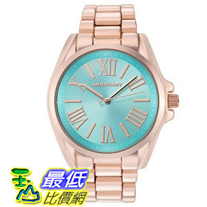 [104美國直購] Wristology 玫瑰金 Chunky Boyfriend Rachel 女士手錶 Rose Gold Dial Blue Face $1973