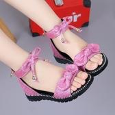 女童涼鞋新款時尚韓版中大夏季軟底兒童鞋小公主女孩羅馬涼鞋 格蘭小舖