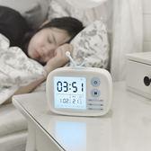 創意數字電子小夜燈學生兒童臥室床頭靜音語音報時多功能簡約個性 概念3C旗艦店