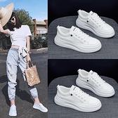 小白鞋女2020新款夏季百搭爆款薄網面透氣老爹鞋女厚底運動鞋板鞋