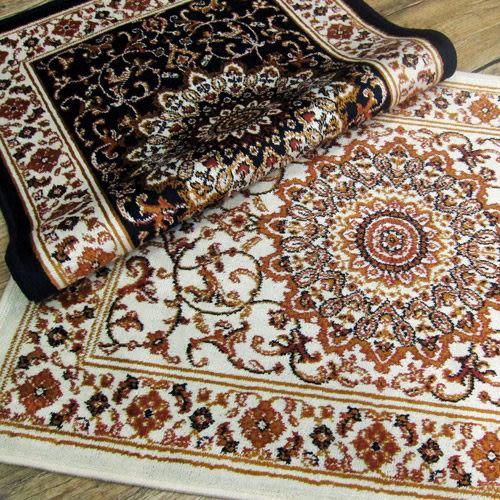 【范登伯格進口地毯】紅寶石輕柔絲質感地毯-踏墊-門墊-尚(藍)-50x70cm