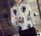 FINDSENSE品牌 秋季 新款 日本 男 高端 復古 氣質商務休閒 個性襯衣