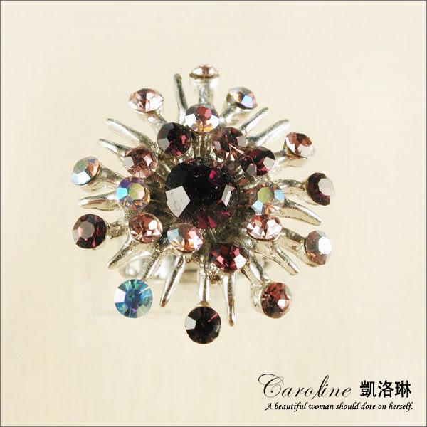 《Caroline》★韓國進口甜心可愛設計施華洛世奇水晶造型戒指【可調整型】39837