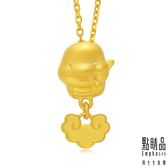 點睛品 吉祥系列 十二生肖-神聖蛇 黃金吊墜