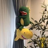 一個裝卡通創意恐龍鯊魚窗簾扣窗簾夾綁帶可愛掛飾【雲木雜貨】