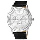 CITIZEN 超越時代三眼計時光動能腕錶/ BU2071-01A