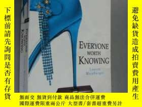 二手書博民逛書店EVERYONE罕見WORTH KNOWING 大32開Y146