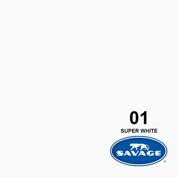 EGE 一番購】Savage【01 Super White】無縫背景紙 色彩均勻 美國製造【公司貨】
