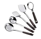 鍋鏟不銹鋼廚房廚具鏟勺套裝全套家用湯勺漏勺加厚炒菜鏟子勺子 酷男精品館