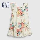 Gap女幼童 活力花卉印花方領洋裝 576360-白底印花
