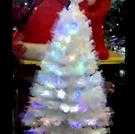 120CM4呎/4尺LED閃爍光纖聖誕樹-白 聖誕節舞會聖誕襪聖誕帽聖誕燈聖誕金球聖誕服聖誕蝴蝶結聖誕花