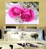 壁畫 單聯掛畫臥室床頭單幅裝飾畫走廊墻壁畫玫瑰花 BH 衣涵閣
