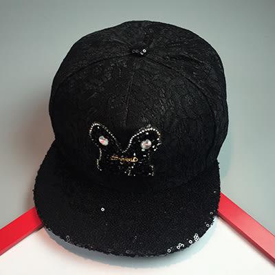 棒球帽ManStyle潮流嚴選韓版個性寶石蕾絲亮片透氣棒球帽滑板帽嘻哈帽街舞帽【02U0174】