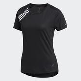 ADIDAS 3-STRIPES 女裝 短袖 慢跑 訓練 吸濕 排汗 反光 三條線 舒適 黑【運動世界】FK1602