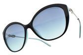 Tiffany&CO.太陽眼鏡 TF4144BF 8055-9S (黑槍-漸層藍鏡片) 貴氣名媛貓眼款 墨鏡 # 金橘眼鏡
