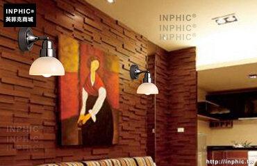 INPHIC- 現代簡約鐵藝led客廳臥室過道燈 時尚酒店玻璃床頭壁燈-B款_S197C