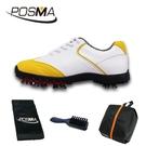 高爾夫球鞋 女款 英倫風 防水超纖皮 防水運動鞋 GSH080YEL