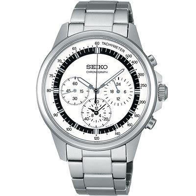 【僾瑪精品】SEIKO SPIRIT 時尚簡約計時腕錶-白 7T11-0BH0S(SBTQ073J)
