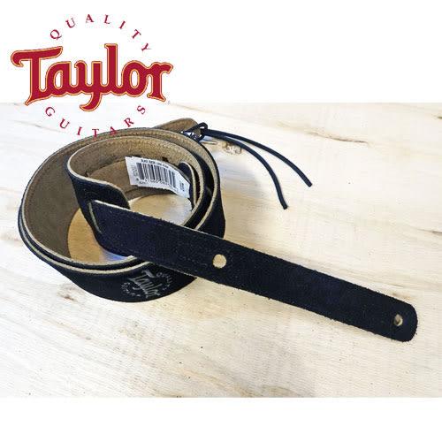 【敦煌樂器】TAYLOR TLOP-62001 黑色 Suede 麂皮吉他貝斯背帶