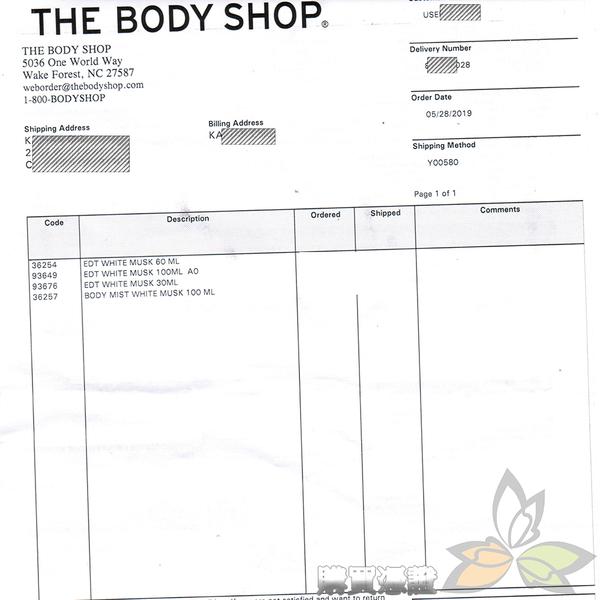 【預購】THE BODY SHOP 白麝香絲柔淡雅香水 30ml【百奧田旗艦館】